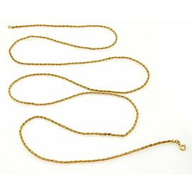 Vintage Fine Twisted Mesh Design 18k Yellow Gold Necklace