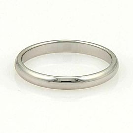 Tiffany & Co. Platinum Plain 3mm Wide Wedding Dome Band Ring 11