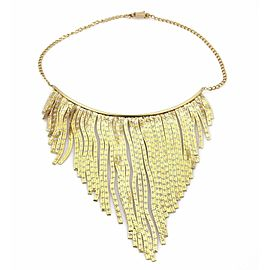 Fringe Drapes 14k Two Tone Gold Choker Necklace