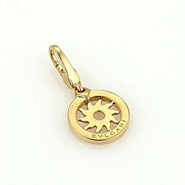 Bulgari Sun Burst 18k Yellow Gold Circle Charm