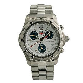 Tag Heuer Professional CK1111-0 Mens Quartz Watch Chronograph SS 39mm