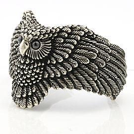 Owl Sterling Silver Fashion Cuff Bracelet