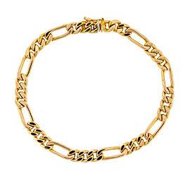 14k Rose Gold Figaro Link Bracelet