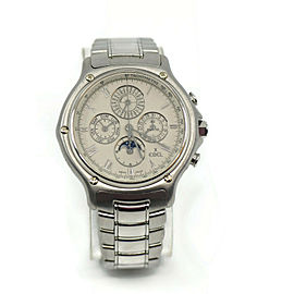 Ebel 1911 Perpetual Calendar Chronograph 18K White Gold Watch 3136901