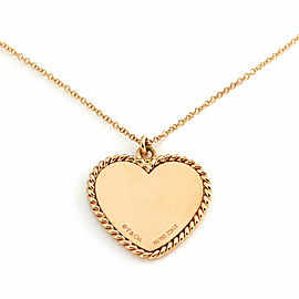Tiffany & Co. 18k Pink Gold Twist heart Charm & Chain