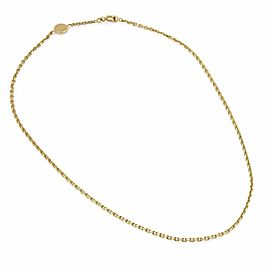 Hermes 18k Yellow Gold Oval Link Chain Necklace