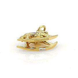 Tiffany & Co. Diamond Platinum & 18k Gold Rocking Horse Charm Pendant