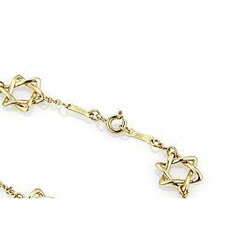 Tiffany & Co. Peretti 5 Star of David Charm 18k Yellow Gold Bracelet