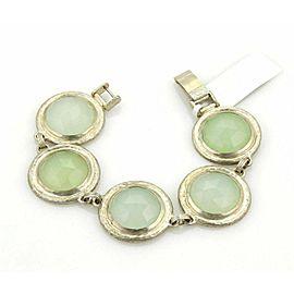 Gurhan Gumdrop Sterling Silver Aqua Chalcedony 5 Round Link Bracelet