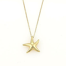 Tiffany & Co. Peretti Mini Starfish 18k Yellow Gold Pendant & Chain