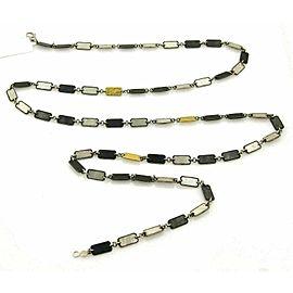 Gurhan Contour 24k Gold & Sterling Silver Long Link Necklace