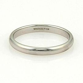 Tiffany & Co. Platinum Plain 3mm Wide Wedding Dome Band Ring