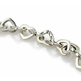 Tiffany & Co. Sterling Silver 18k Yellow Gold Heart Link Necklace