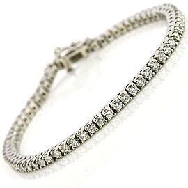 3 Carats Round Diamond Platinum Tennis Bracelet