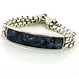 David Yurman Sterling Silver Pietersite Bracelet