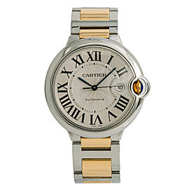 Cartier Ballon Bleu 3001 W2BB0022 Mens Automatic Watch 18k Two Tone 42mm