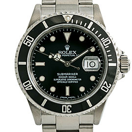 Rolex Submariner 16610T Z Serial Mens Automatic Watch Black Dial Stainless 40mm