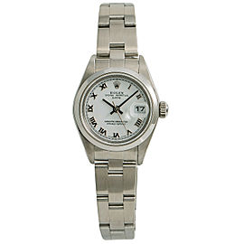 Rolex Date 79160 Womens Automatic Watch White Dial Stainless Steel 26mm