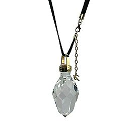 BACCARAT JEWELRY BOUCHONS DE CARAFE SOLID 18K GOLD LARGE NECKLACE CLEAR PENDANT
