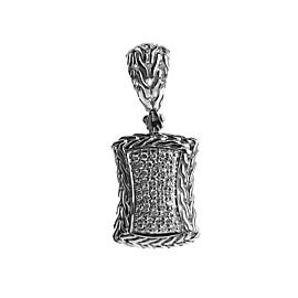 JOHN HARDY STERLING SILVER CLASSIC CHAIN DIAMOND 0.36TCW ENHANCER PENDANT 16DT