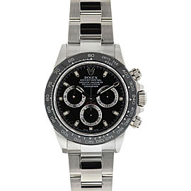 Rolex 116520 Daytona Black AM Dial Ceramic Bezel Stainless Automatic Watch