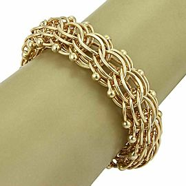 14k Yellow Gold Multi-Ring 20mm Wide Charm Bracelet