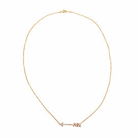 Tiffany & Co. Picasso Grafitti Diamond 18k Rose Gold Arrow Pendant