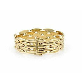 Cartier 5 Rows Gentiane Rice Link 18k Yellow Gold Bracelet w/Polish Paper
