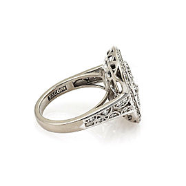 Tacori Diamond 18k White Gold Swirl Open Design Ring