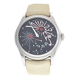Ladies Daniel JeanRichard 42MM Bressel 1665 Automatic 63112-11-60C Watch