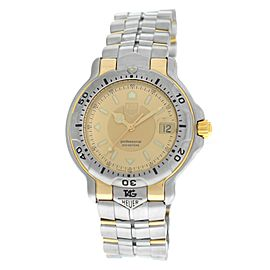 Men's Tag Heuer WH1153-K1 Steel 18K Solid Yellow Gold Date Quart Watch