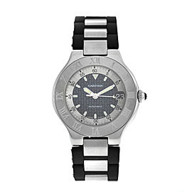 Unisex Cartier 2427 Autoscaph 37MM Steel Date Automatic Watch