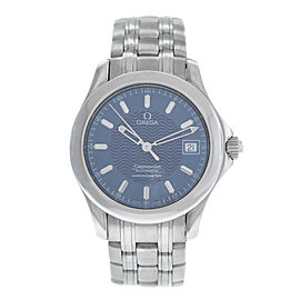 Men's Midsize Omega Seamaster 168.1601 Automatic Chronometer 36MM Steel Watch
