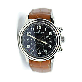 Blancpain Leman Flyback Chronograph Stainless Steel Watch 2185F