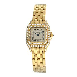 Ladies Cartier Panthere 107000M Solid 18K Yellow Gold Diamond 22MM Quartz Watch