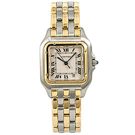 Cartier Panther 183949 Unisex Watch Quartz 18k Triple Row Two Tone 27mm