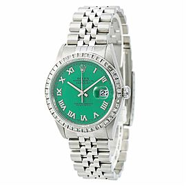 Rolex Datejust 16220 Unisex Watch 2.60CT Aftermarket Diamond Stella Dial 36mm