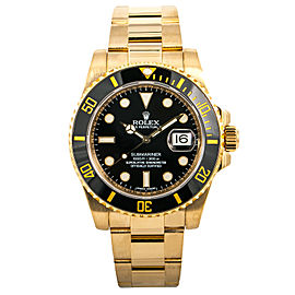 Rolex Submariner 116618 Ceramic Scrambled Men Watch Automatic 18K Gold 40mm