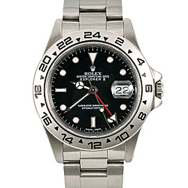Rolex Explorer II 16650 Vintage Mens Automatic Stainless Black Swiss Dial 40mm