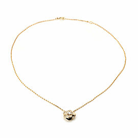 Chanel Camelia Diamond 18k Yellow Gold Floral Pendant & Chain