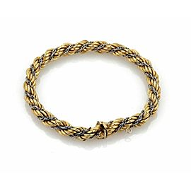 Vintage 18k Two Tone Gold Chain Wrap Rope Bracelet