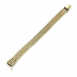 "Multi Strand 18k Yellow Gold Bracelet 6.75"" Long"