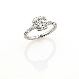 Tiffany & Co. Soleste Diamond Platinum Engagement Ring Size 6.5