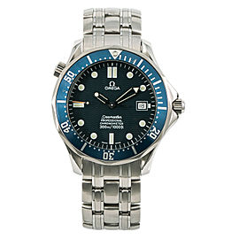 Omega Seamaster 2531.80.00 W/Papers Mens Watch Automatic Blue Wave Dial 41mm