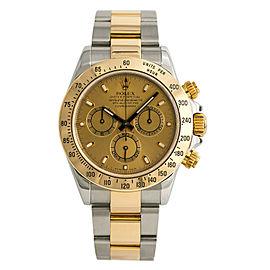 Rolex Daytona 116523 Z Serial Watch Automatic 18k Two Tone Champagne Dial 40mm