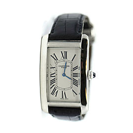 Cartier Tank Americaine XL Platinum Watch 1734A