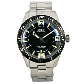 Oris Divers 0173377074064-752022 Men Watch Automatic Box & Paper Black Dial 40mm