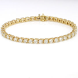 7.00 Carat 14k Yellow Gold Diamond Tennis Bracelet