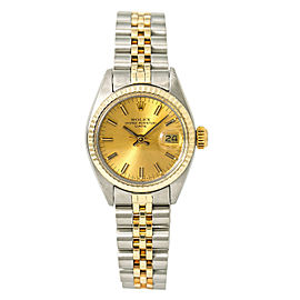 Rolex Date 6917 Womens Automatic Watch 18k Two Tone 26mm