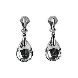 BACCARAT JEWELRY PSYDELIC CLIP-ON EARRINGS SILVER MIRROR CLEAR NEW FRANCE NO BOX